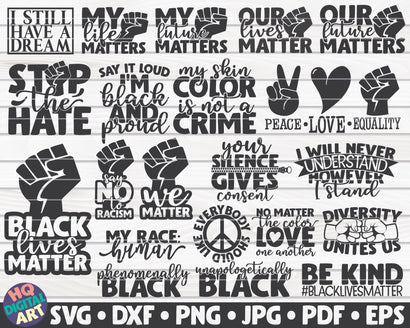 Black Lives Matter SVG Bundle | 21 designs SVG HQDigitalArt