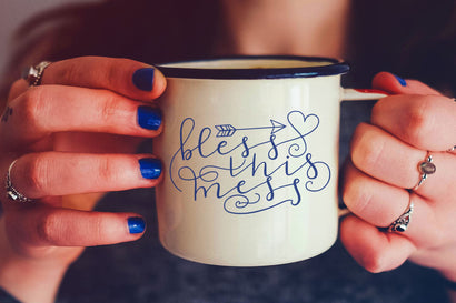 Bless This Mess - Hand Lettered SVG CraftyLittleNodes