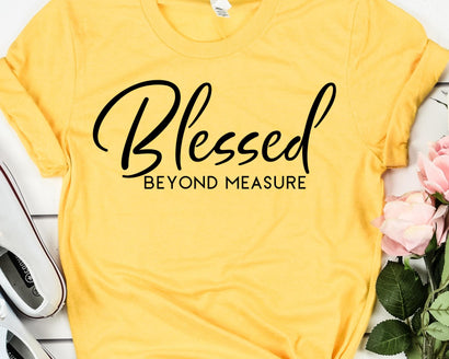 Blessed Beyond Measure SVG - Christian SVG - Inspirational SVG SVG She Shed Craft Store