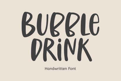Bubble Drink - A Cute Handwritten Font Font Epiclinez