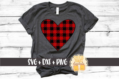 Buffalo Plaid Heart - Valentine's Day SVG PNG DXF Cutting Files SVG Cheese Toast Digitals