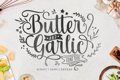 Butter and Garlic Font Holydie Studio
