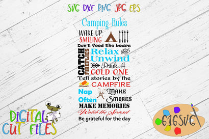 Camping Rules SVG 616SVG