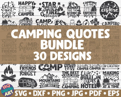 Camping SVG Bundle | 30 designs SVG HQDigitalArt