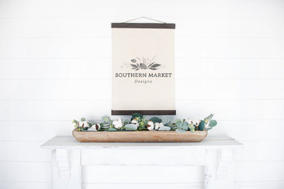 Canvas Sign Farmhouse Styled Mock Up Stock Photo Mock Up Photo Southern Market Designs