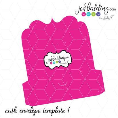 Cash Envelope Template 3D Paper So Fontsy Design Shop