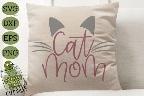 Cat Mom SVG SVG Crunchy Pickle