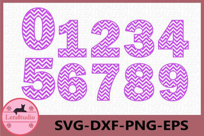 Chevron Numbers svg SVG Lerastudio