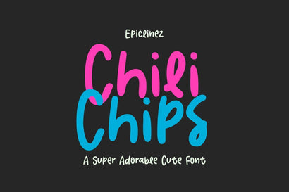 Chili Chips - A Fun Crafty Font Font Epiclinez