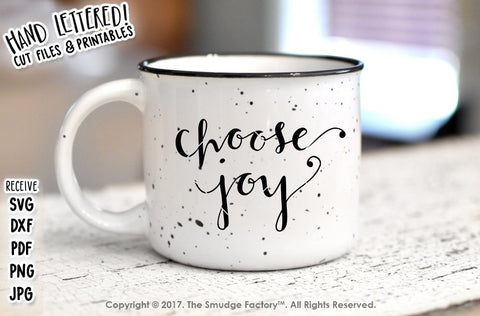 Choose Joy SVG The Smudge Factory