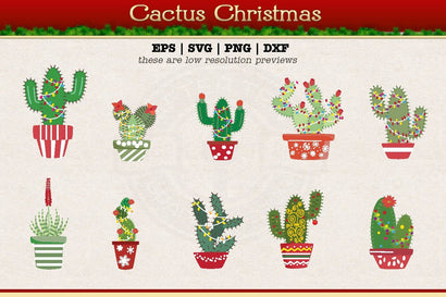Christmas Cactus SVG AfterTenDesign
