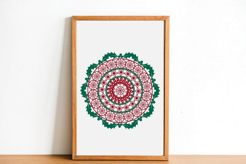 Christmas Mandala SVG Christmas Ornament SVG Winter Mandala SVG zoellartz