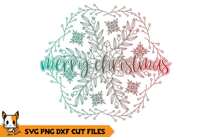 Christmas Mandala SVG | Merry Christmas SVG Zen Kitty