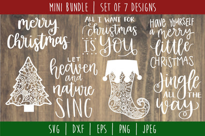Christmas Mini Bundle Volume 2 Set of 7 - SVG SVG SavoringSurprises