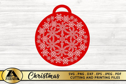 Christmas Ornament Design-Christmas SVG PNG EPS DXF Cut File SVG zoellartz