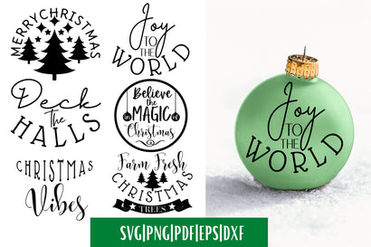 Christmas Ornament SVG Bundle SVG MockupSvgVenue