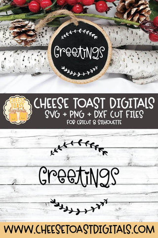 Christmas Ornament SVG | Greetings SVG Cheese Toast Digitals
