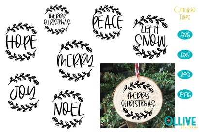 Christmas Ornaments Rounds SVG Bundle SVG Ollive Studio