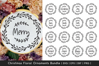 Christmas Ornaments SVG Bundle - Floral Frame SVG SVG Dasagani-svg-crafts