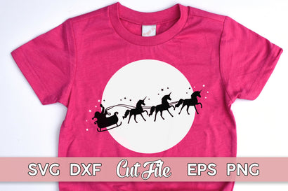 Christmas Sleigh SVG Unicorn cut file with PNG EPS DXF AI SVG Maggie Do Design
