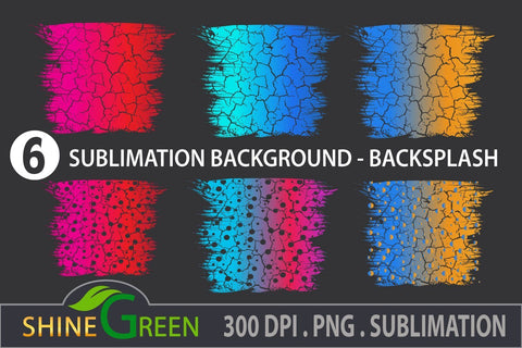 Christmas Sublimation Background Bundle - 6 Backsplash PNG Transparent Files Sublimation Shine Green Art
