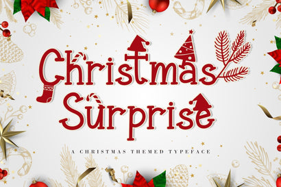Christmas Surprise Font AEN Creative Store