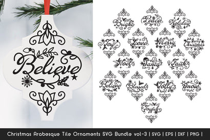 Christmas SVG Bundle - Arabesque Tile Ornaments SVG Bundle 3 SVG Dasagani-svg-crafts