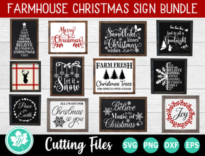 Christmas SVG Bundle | Christmas Sign SVG | Farmhouse SVG SVG TrueNorthImagesCA