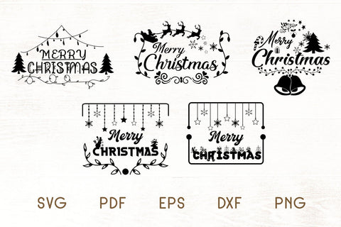 Christmas SVG - Merry Christmas SVG - Christmas Frames SVG Dasagani-svg-crafts