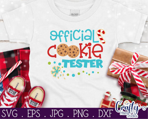 Christmas Svg - Official Cookie Tester - Christmas Cookies SVG Crafty Mama Studios