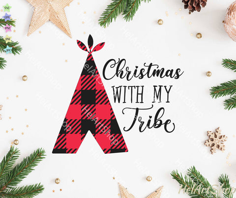 Christmas With My Tribe svg SVG _HelArtShop_