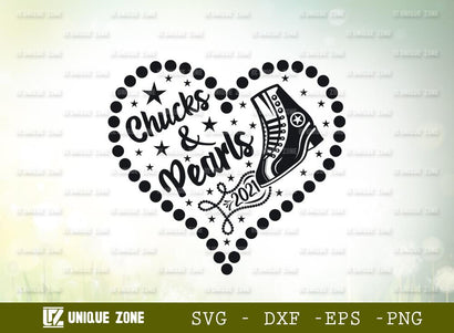 Chucks And Pearls 2021 | Chuck And Pearly | Typography Design | T-shirt Design SVG Unique Zone