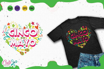 Cinco de mayo heart svg cut files for crafters SVG Cute files