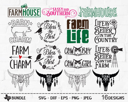 Country Super Bundle | Country SVG SVG Texas Southern Cuts