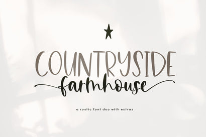 Countryside Farmhouse - Font Duo with Extras! Font KA Designs