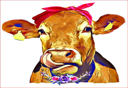 Cow Bandana, Farm Life,Cow Sublimation Graphic Sublimation sublimationhappy
