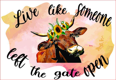 Cow Floral, Quote, Cow Head,sublimation Graphic Sublimation sublimationhappy