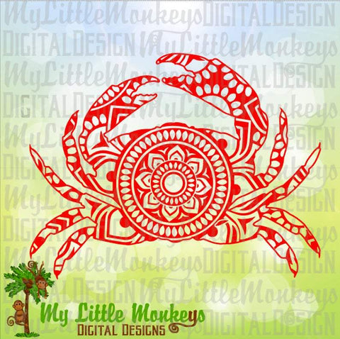 Crab Mandala SVG MLM Design Studio