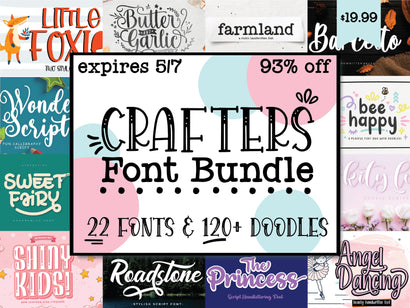 Crafter's Font Bundle Bundle So Fontsy Design Shop