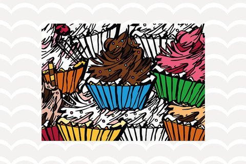 Cupcakes Clipart Set VectorSVGdesign