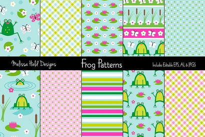 Cute Frog Patterns Melissa Held Designs