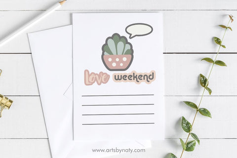 Cute stickers Printable SVG for planners SVG Arts By Naty