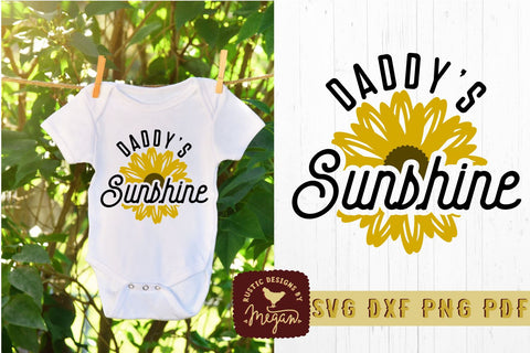 Daddys Sunshine Sunflower SVG DXF Cut File SVG Tinker & Teal