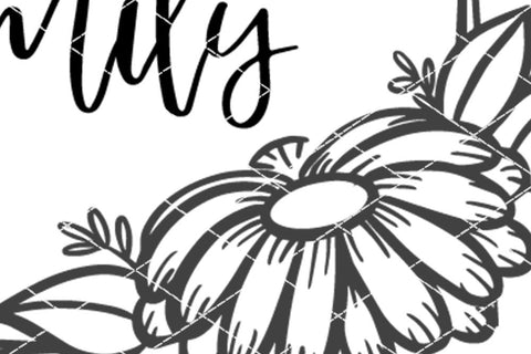 Daisy Monogram SVG - Customize Your Design - Farmhouse Style Sign SVG So Fontsy Design Shop
