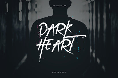 DarkHeart Brush font + Extras Font VPcreativeshop