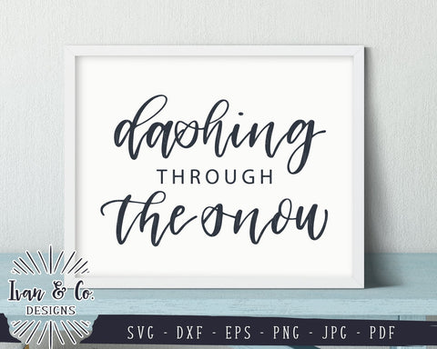 Dashing Through The Snow SVG Files | Christmas | Holidays | Winter SVG (855680951) SVG Ivan & Co. Designs