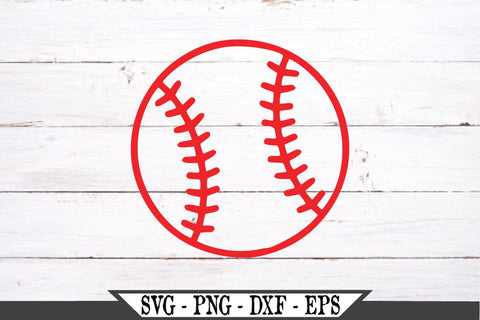 Distressed Baseball or Softball SVG Vector Cut File Grunge Sports Ball SVG My Sassy Gifts