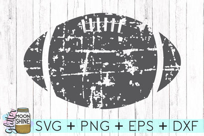 Distressed Football SVG Glitter Moonshine Designs