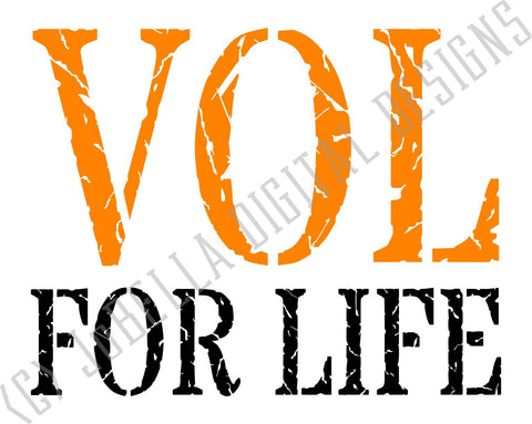 Distressed Vol For Life SVG Cut File and Printable SVG JoBella Digital Designs