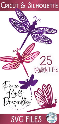 Dragonfly SVG Bundle SVG Wispy Willow Designs